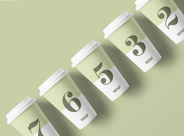 Gratis Mockup Packaging/Kemasan PSD 2018 - Coffee Paper Cup Mockup PSD