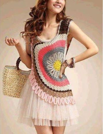 Blusa Circular a Crochet