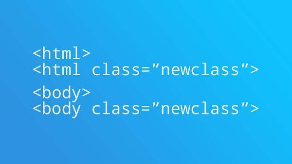 Menambah Dan Menghapus Class Pada Body Atau HTML Tag Dengan Javascript