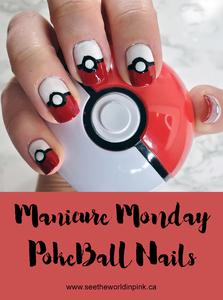Manicure Monday - Pokeball Nails