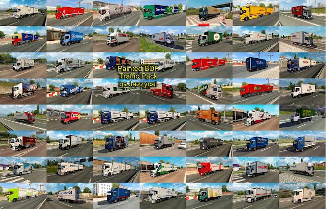 ets 2 painted bdf traffic pack v5.0 screenshots 2