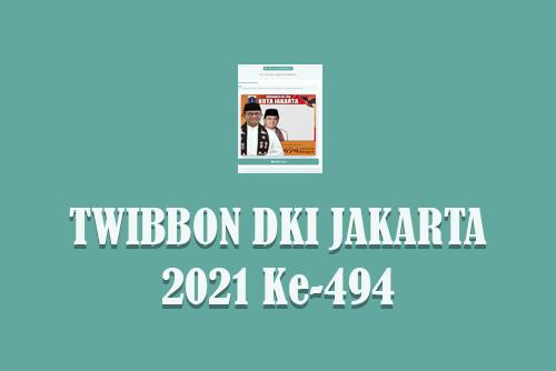 Link Twibbon HUT DKI Jakarta 2021 yang ke-494