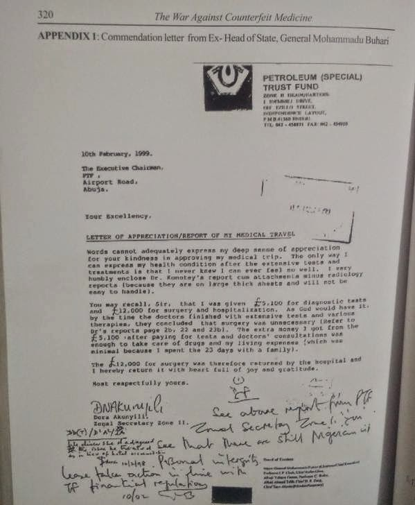 NIGERIAN TOP SECRET: See The 1999 Letter Dora Akunyili