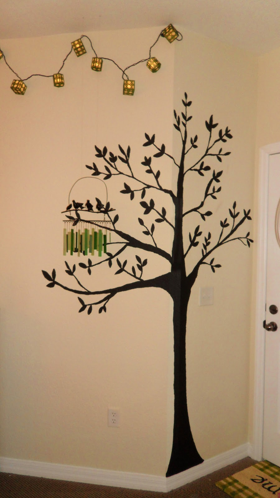 LC Design: Painted Trees for Bedroom or Living Room Walls