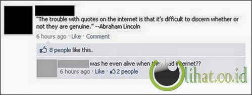 Era Abraham Lincoln Ada Internet?