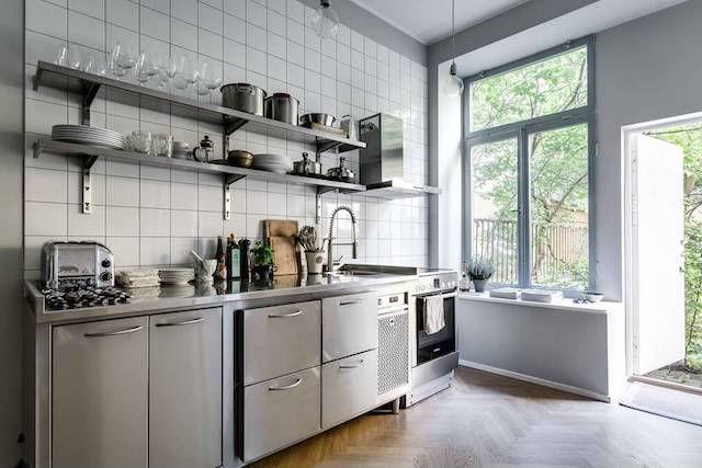 Tendencias decoración 2018 cocinas industriales