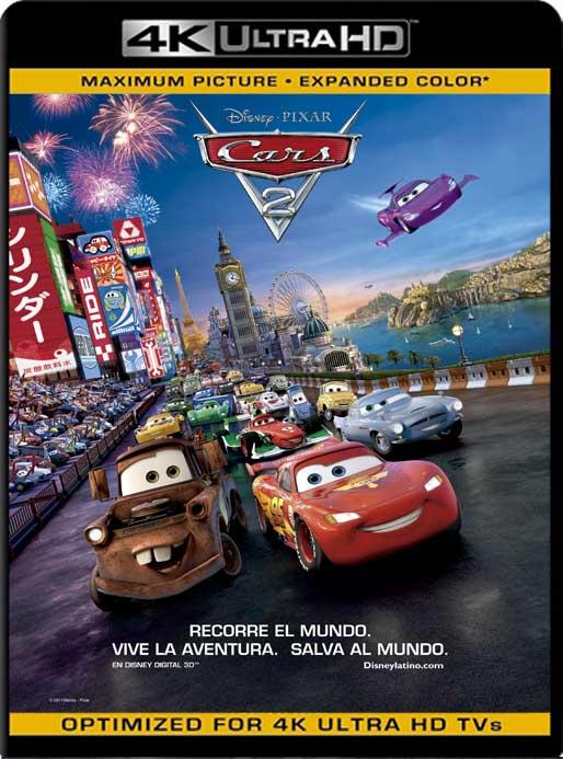 Cars 2 (2011) 4K 2160p UHD [HDR] Latino [GoogleDrive]