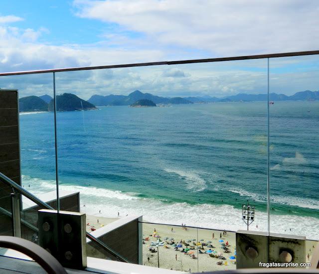 Vista da praia de Copacabana, Rio de Janeiro