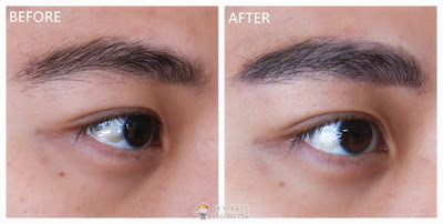 Immediate result after my Korean Eyebrow Embroidery touch up with Ivy Brow Design (right eye)