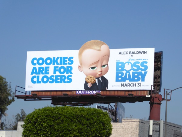 Boss Baby movie billboard