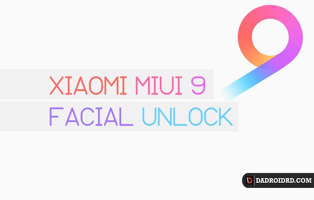 Cara aktifkan Xiaomi Face Unlock di MIUI 9 versi terbaru