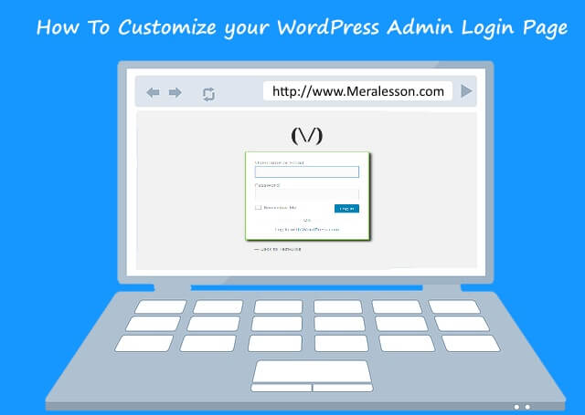 customize your login page in WordPress