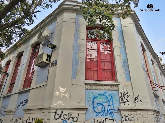 Vista de parte da fachada da Antiga Delegacia do Ministério da Educação (MEC SP) - Campos Elíseos - São Paulo