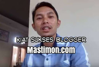 mastimon.com, timon adiyoso, blogger sukses