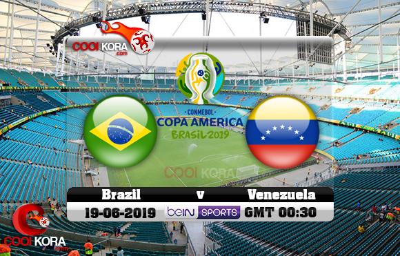 مشاهدة مباراة البرازيل وفنزويلا اليوم 19-6-2019 علي بي أن ماكس كوبا أمريكا 2019