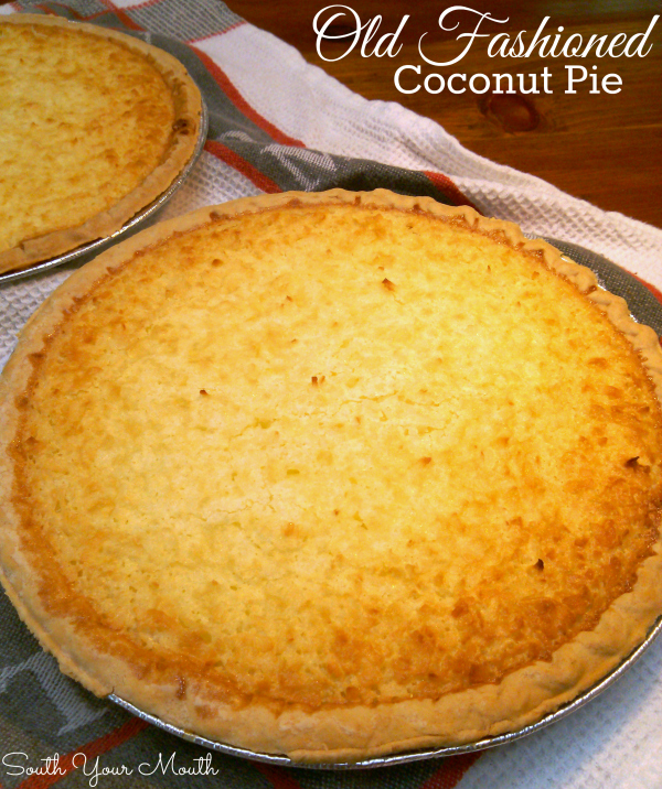 The perfect recipe for classic, old fashioned baked coconut custard pie that's both creamy and chewy in all the best ways!