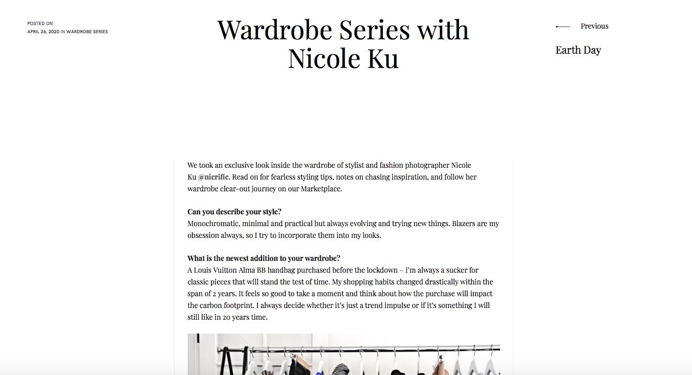 Nicole Ku Fashion Designer Wardrobe
