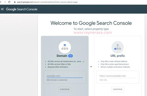 cara menambahkan blog pada google search console
