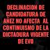BERZAIN nos recuerda que en Bolivia nada ha cambiado, a pesar de la decisión de Añez de dejar de lado su candidatura a presidente. El continuismo dictatorial se mantiene