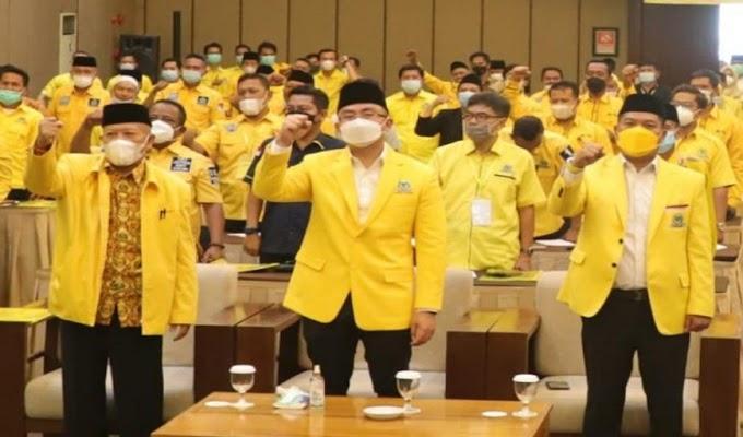 Di Rakerda Golkar Kabupaten Serang, Teriakan Andika Gubernur dan Fahmi Hakim Bupati Menggema