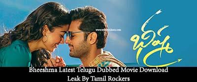 ,Bheeshma Latest Telugu Dubbed Movie Download Leak By Tamil Rockers,Telugu Dubbed Movie Download ,Bheeshma Dubbed Movie Download In 720p,480p,1080pHD Bluray