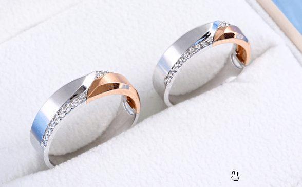 Nhẫn cưới dưới 5 triệu đơn giản, hai màu quyến rũ