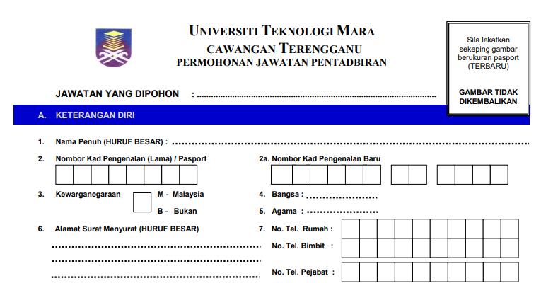 Jawatan Kosong di Universiti Teknologi MARA UiTM - JOBCARI ...