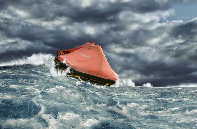 انتاج كتابي : عاصفة في البحر