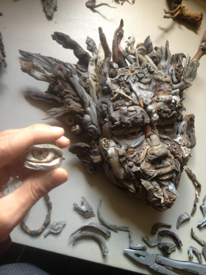 Driftwood art found wood sculpture eyevan tumbleweed s