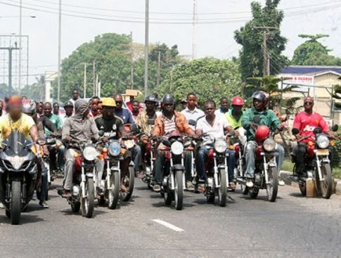 Motorcyclist protest in Ojo, Lagos state over death of colleague #Arewapublisize
