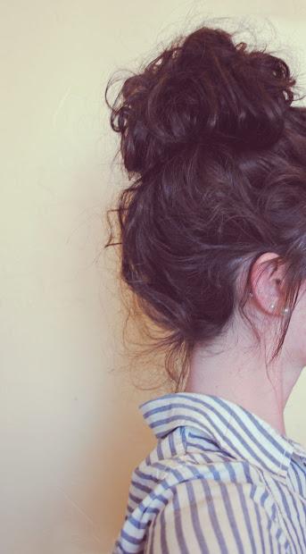 bun hairstyles curly hair