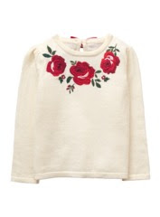 Embroidered Rose Sweater