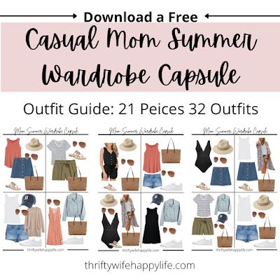 Casual mom friendly summer wardrobe capsule