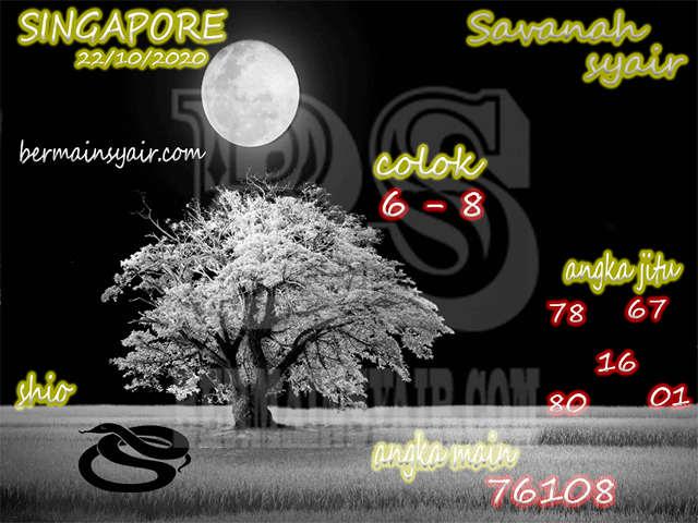 Kode syair Singapore Kamis 22 Oktober 2020 260