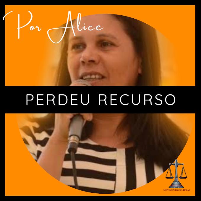 JOELMA PERMANECE COM PARECER DE REJEIÇÃO