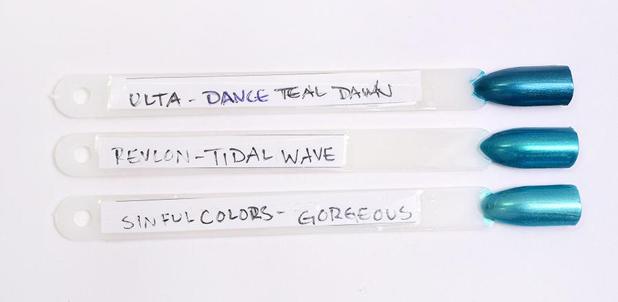 Revlon Tidal Wave Ulta Dance Teal Dawn SinfulColors Gorgeous