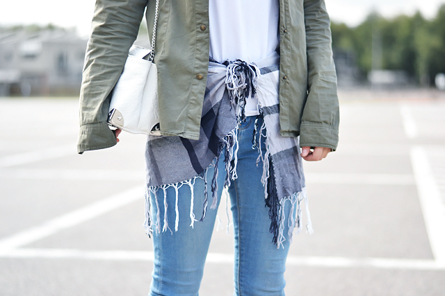 Turn it inside out: Laid back scarf skirt