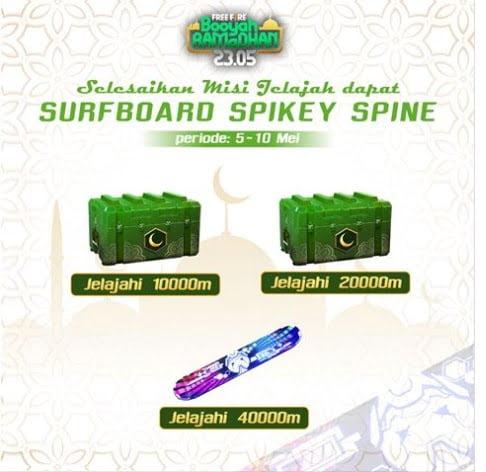 Event Free Fire Surfboard Spikey Spine