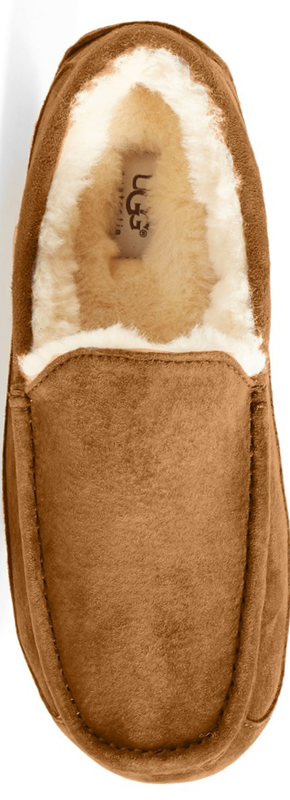 UGG® Australia 'Ascot' Suede Slipper in Chestnut