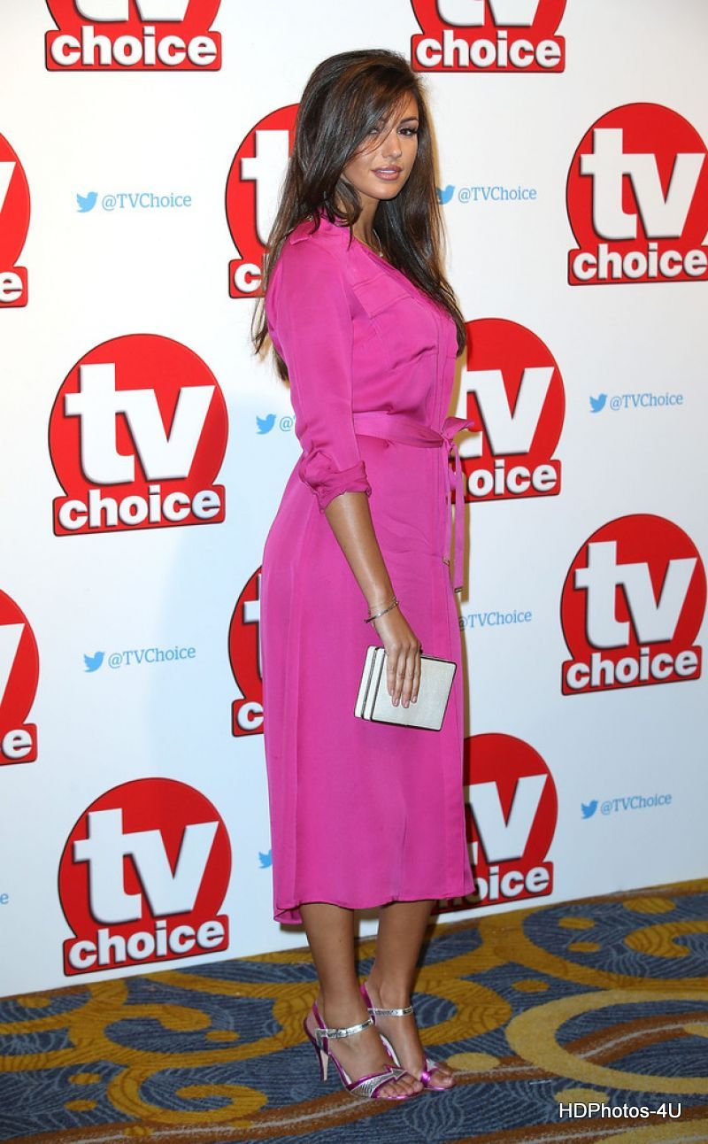 HQ Photos of Michelle Keegan in Pink Dress at TV Choice Awards 2015 in London