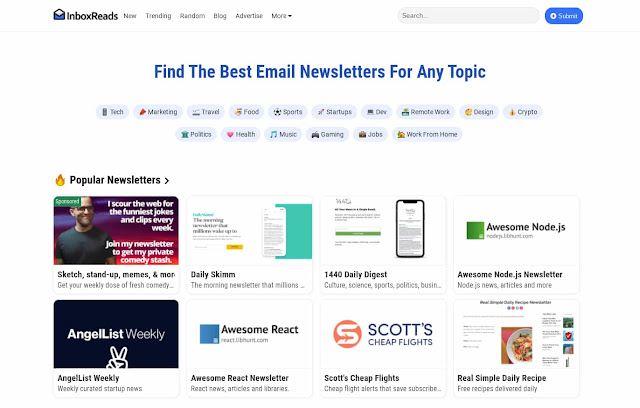 InboxReads newsletter directory