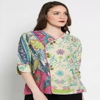 desain baju batik modern simple