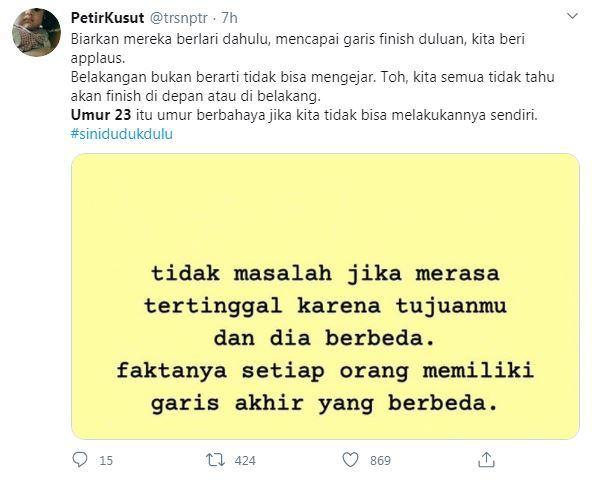 Umur 23, Hari ini Menjadi trending topik di Twitter Indonesia