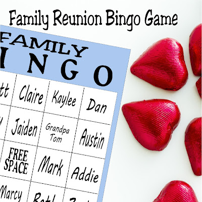 Looking for a fun party game at your family reunion? This printable bingo game is the perfect answer for a lot of family fun.