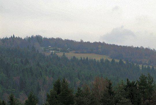 Widok z przełeczy Granice na polanę Kudłacze