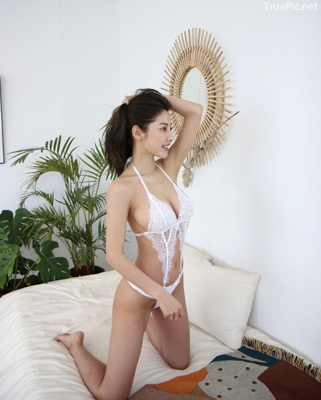 Jeon Ji Su - Bohemian lace white Lingerie - Korean model and fashion - Picture 3
