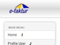 Fungsi Menu di Aplikasi e-Nofa Online (www.efaktur.pajak.go.id) Terhadap e-Faktur