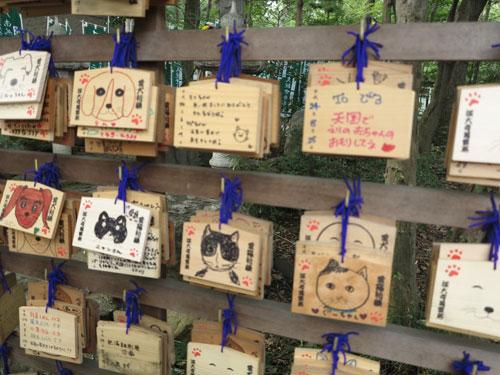 Ema at Jindaiji Pet Cemetery, Tokyo