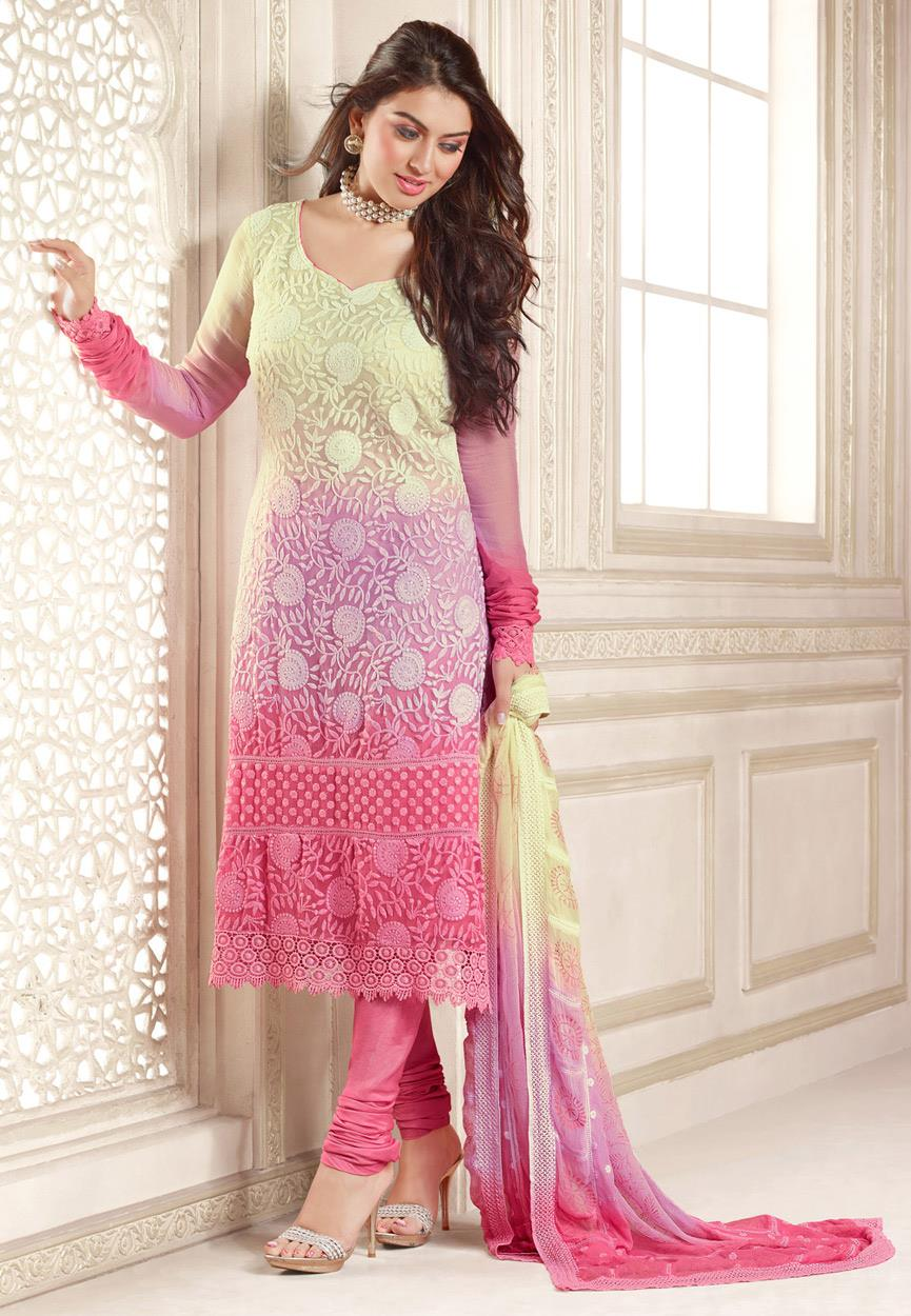 Hansika Photoshoot Photos In Rose Colour Salwar Kameez