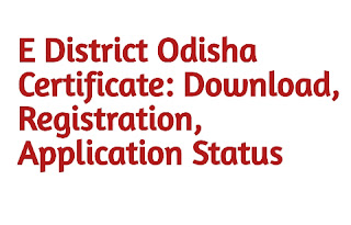 E District Odisha Certificate